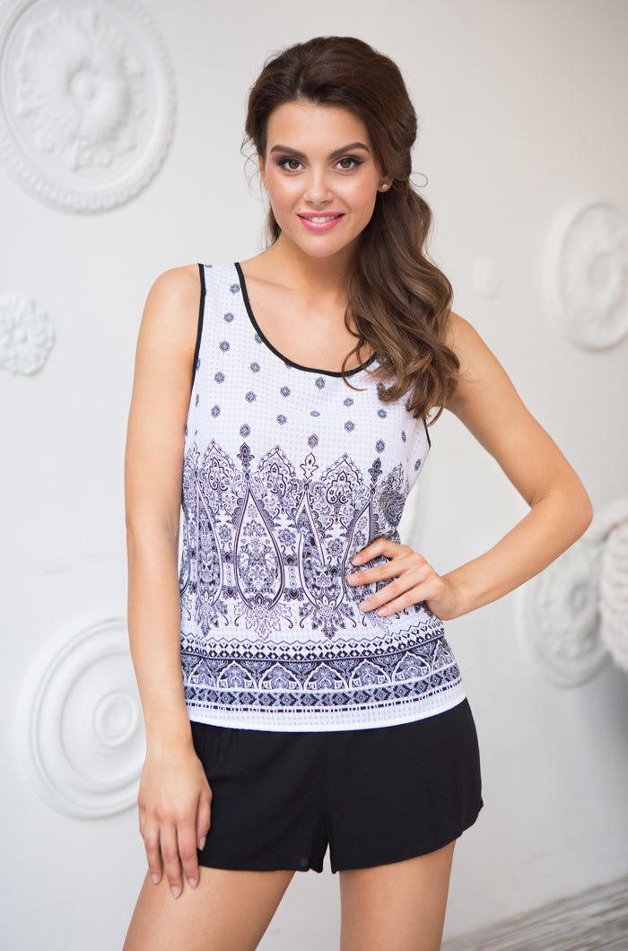 Пижамы женские Комплект  женский с шортами  MIA-MIA  Leona ЛЕОНА 16212 16212_white_big.jpg