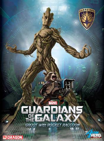 Guardian of the Galaxy: Groot & Rocket Raccoon Action Hero Vignettes 1/9 Scale Model Kit || Грут и Енот Рокета