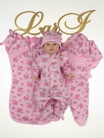 Комплект на выписку для новорожденных Роуз 7 предметов (розовый)