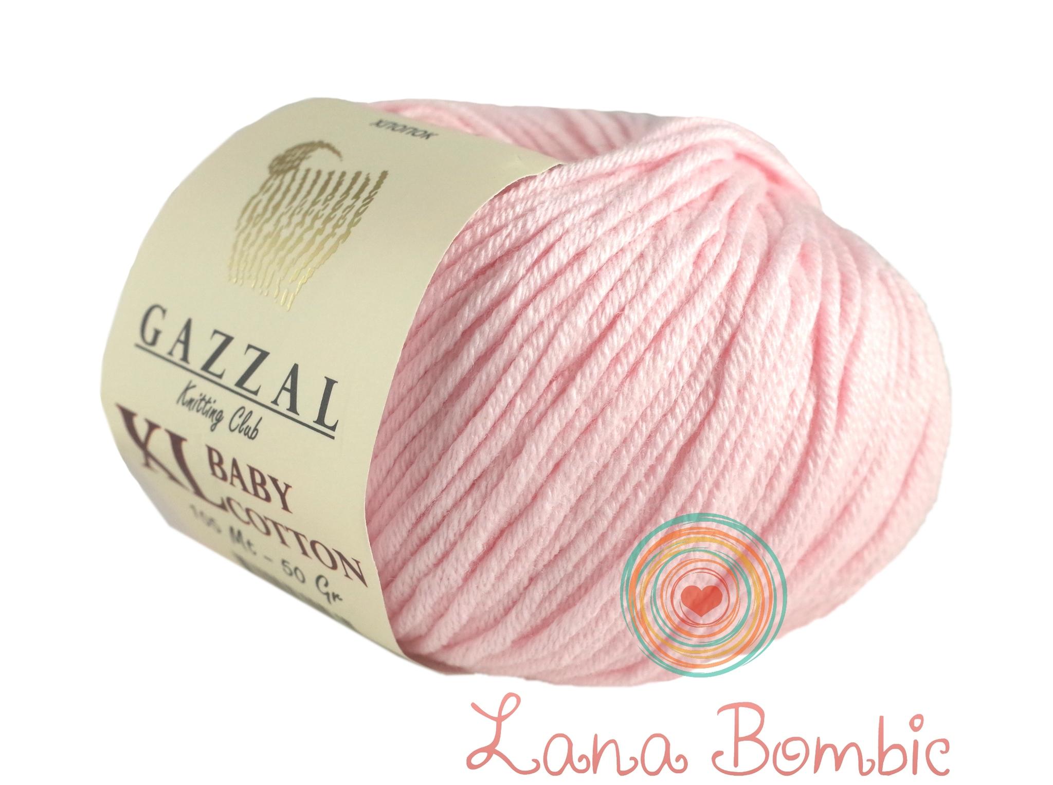 Пряжа Gazzal Baby Cotton XL 3411 нежно-розовый