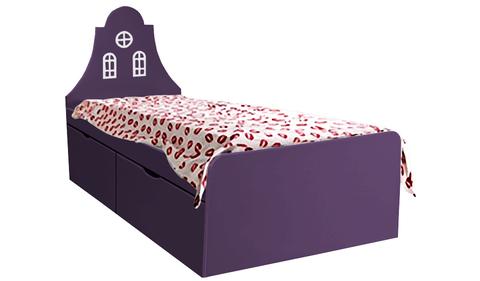 Детская кровать фиолетовая