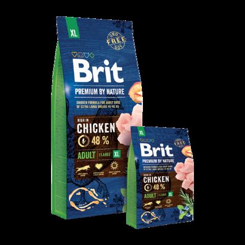 Brit Premium By Nature Adult XL Сухой корм для взрослых собак гигантских пород