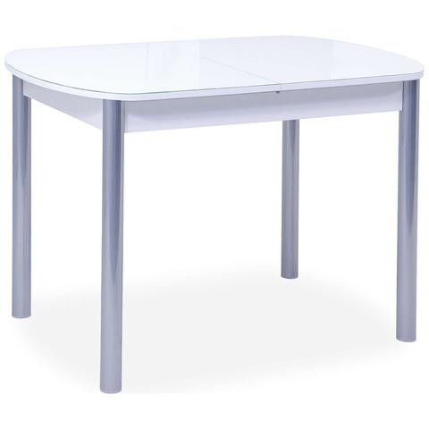 Стол Берлин-1 EVO / Белый / Рис.0 /ножки хром-лак / 105(137)х65см