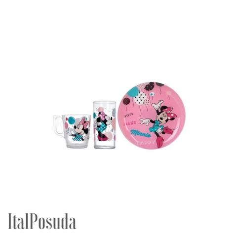 Набор детской посуды Luminarc Disney Party Minnie (Дисней Пати Минни), 3 предмета L4877