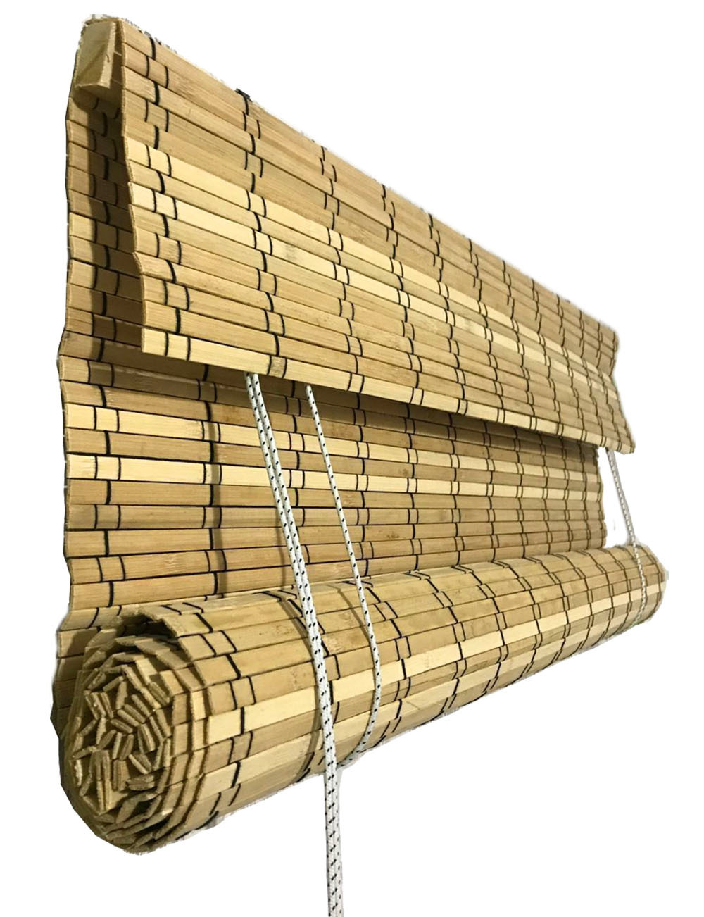 Рулонные римские шторы из натурального бамбука 60 х 160 см