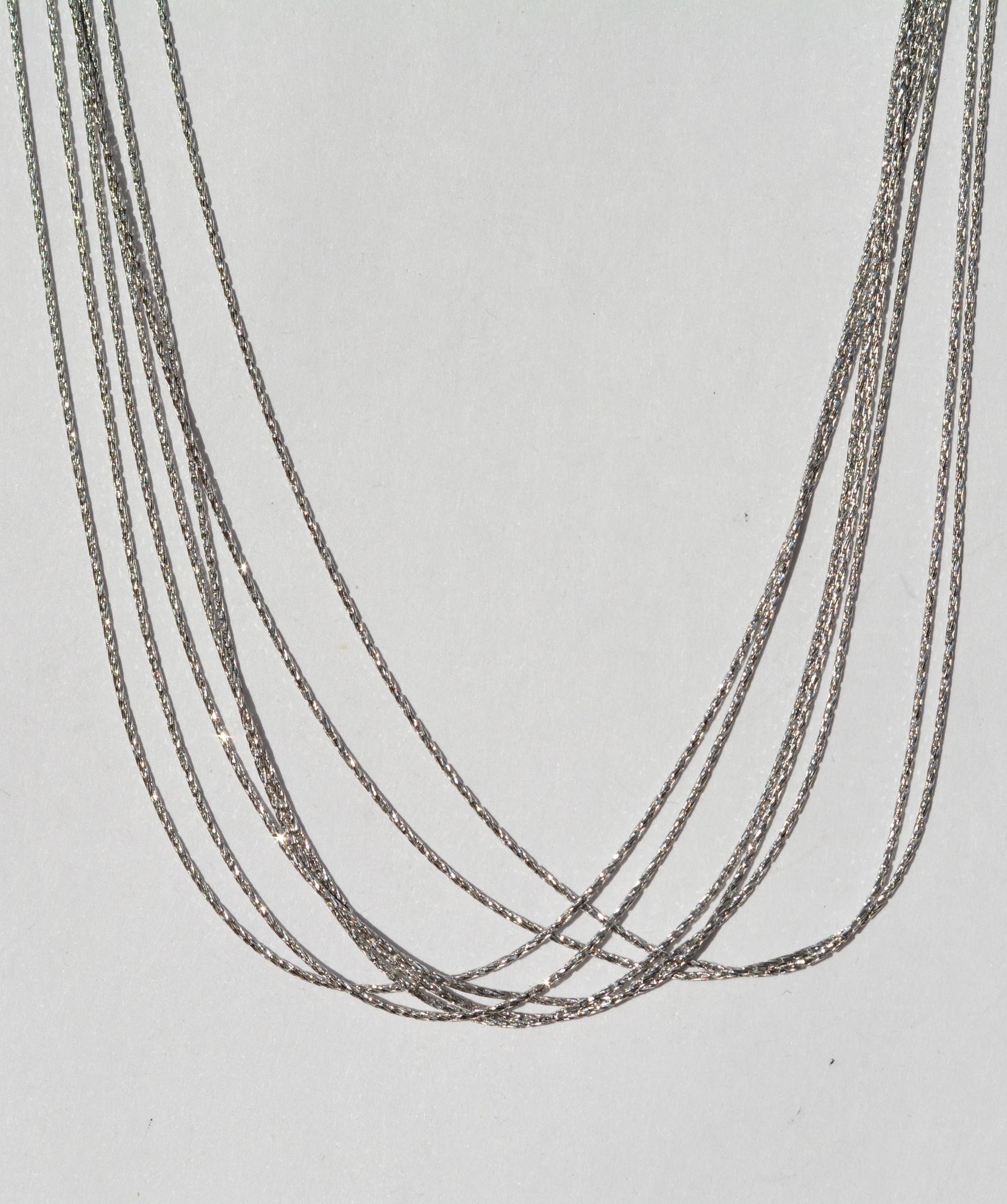 Колье из серебра,7 нитей (серебряная цепочка).