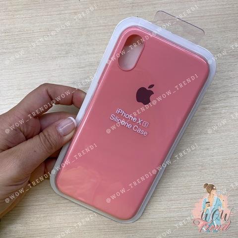 Чехол iPhone X/XS Silicone Slim Case /light pink/