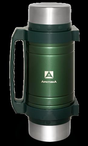 Термос универсальный (для еды и напитков) Арктика (2,5 литра) с супер-широким горлом, зелёный