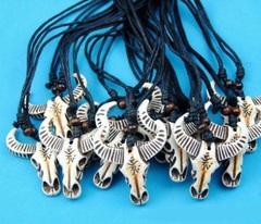 Кулон на шнурке голова буйвола