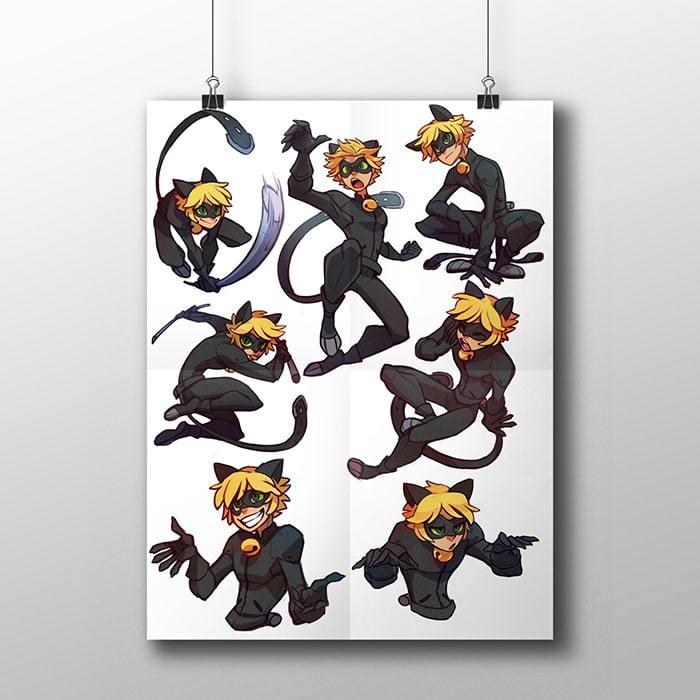 Плакат с Супер Котом - купить в интернет-магазине kinoshop24.ru с быстрой доставкой