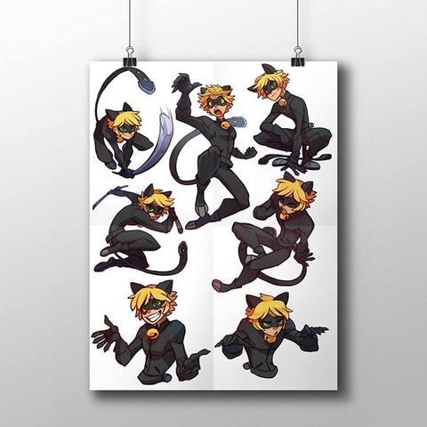 Плакат с Супер Котом №2