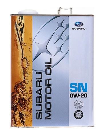 SUBARU 0W20 SN Масло моторное синт. (железо/Япония)