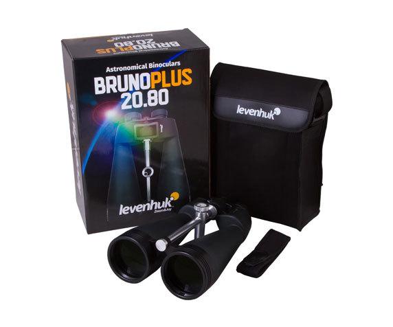 Комплект поставки астрономического бинокля Levenhuk Bruno Plus 20 80