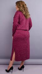 Леся. Оригинальное платье для дам size plus. Бордо.