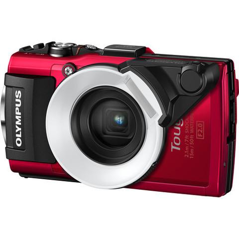 Цифровой компактный фотоаппарат Olympus Tough TG-5 красный в комплекте с FD-1
