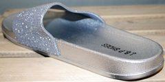 Шлепки биркеншток J.B.P. Shoes Nu1213 Silver.