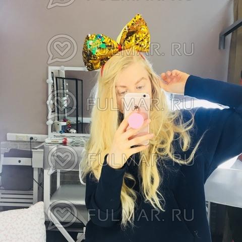 Новогодний ободок на голову карнавальный Большой Бант Merry Christmas с бубенцами пайетки меняют цвет Золотистый-Серебристый