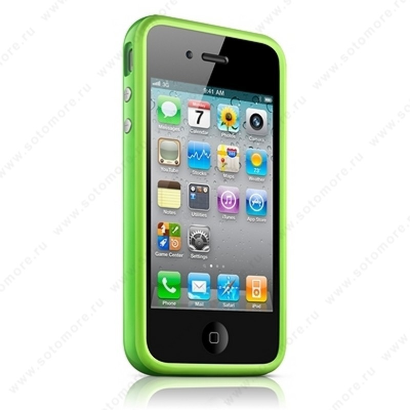 Бампер Apple для Apple iPhone 4s/ 4 Bumper - Green