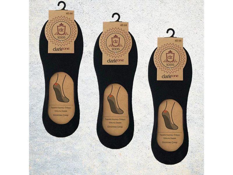 Носки-невидимки мужские черные - набор из 3 пар DARKZONE DZCP3001