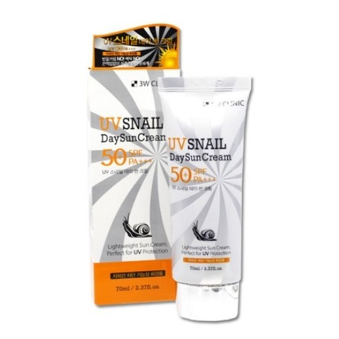 3W CLINIC UV Snail Day Sun Cream SPF 50+ PA+++ Солнцезащитный крем