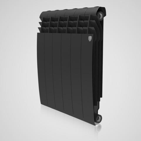 Радиатор биметаллический Royal Thermo Biliner Noir Sable 500 (черный)  - 12 секций