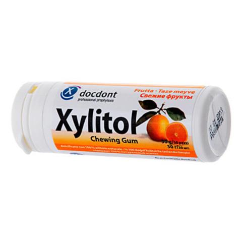 Жевательная резинка с ксилитом XYLITOL в контейнере 160 гр