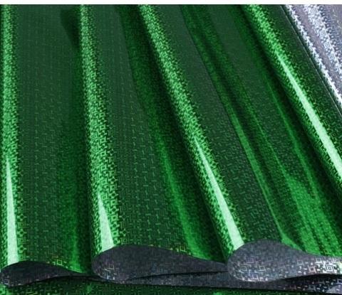 Пленка голография (размер: 70см*8,3м, 30мкм), цвет: зеленый