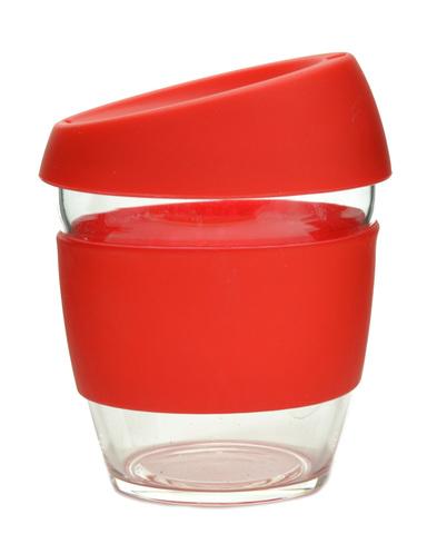 Кружка Coffee Cup из боросиликатного стекла 226 мл. красный