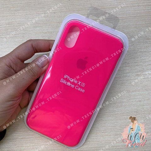 Чехол iPhone X/XS Silicone Slim Case /electric pink/