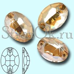 Купите стразы пришивные Oval Golden Shadow, Овал Голдэн Шадэ золотые золотистые