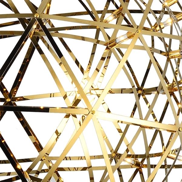 Напольная лампа копия  Raimond Tensegrity by Moooi (золотой, D 89 cm)