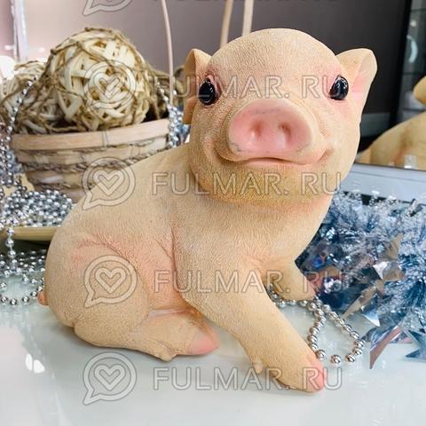 Копилка «большой поросёнок Пиг сидит улыбается» 23х20х15 см