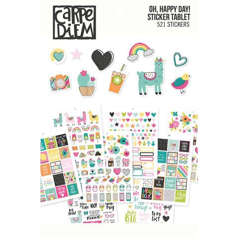 Стикербук - Carpe Diem A5 Planner Sticker Tablet- Oh, Happy Day!-521 шт