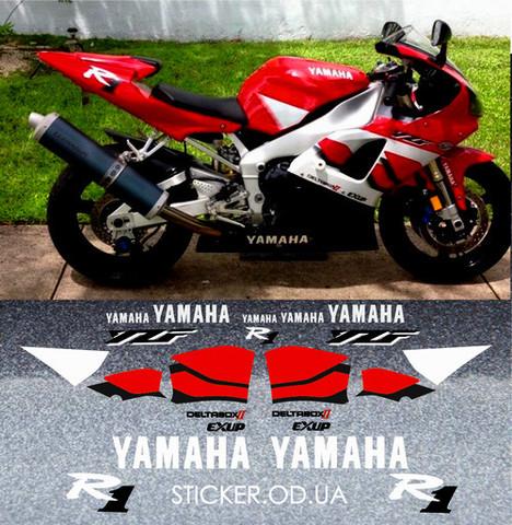 Набор виниловых наклеек на мотоцикл YAMAHA YZF-R1 2000