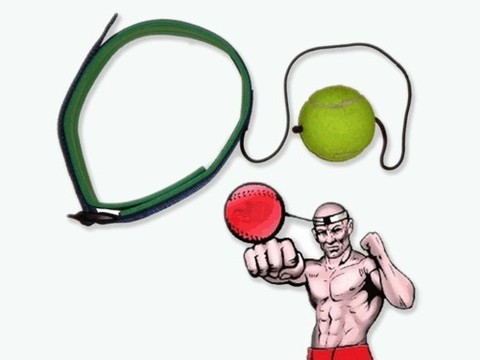 Эспандер FIGHT BALL (боевой мяч) для развития точности удара, скорости реакции и координации, предназначен для спортсменов боевых видов спорта. :(03-40):
