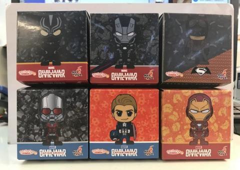 Случайный брелок по Мстителям, 8см (Человек-муравей, Бэтмен, Железный человек черный костюм, железный патриот, капитан америка, черная пантера)