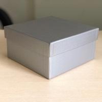 Квадратная коробка 19см .Цвет; Серебро . В розницу 200 рублей