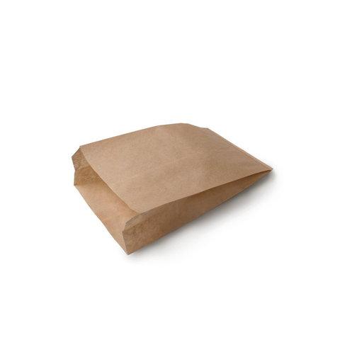 Бумажный пакет с плоским дном, 90*40*205 мм, крафт