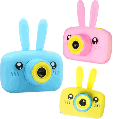 Детский фотоаппарат ZooKids Camera с силикон чехлом (заяц, мишка)
