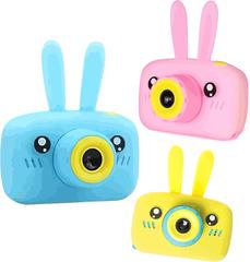 детский фотоаппарат zoo kids camera зайик мишка с ушками силиконовый чехол купить в top-store24