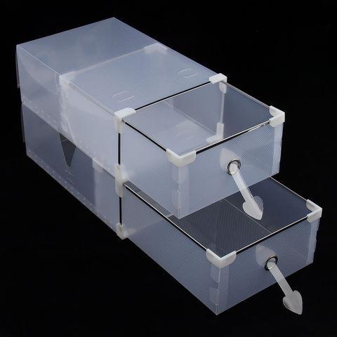 Набор из 20 пластиковых коробок 34*22*13 см для обуви до 49 размера