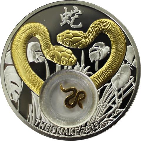 "1 доллар 2012 год. ""Год змеи"". Ниуэ"