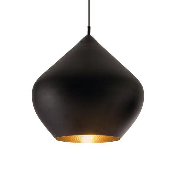 Подвесной светильник копия Beat Light Stout by Tom Dixon D52 (черный)