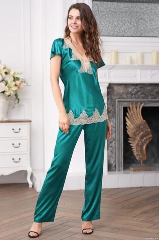 Комплект с брюками шелковый Mia-Amore MARILIN DELUXE Мэрилин Делюкс 3446