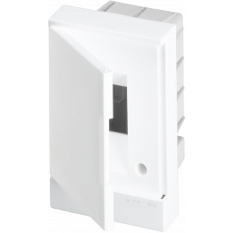 Бокс в нишу Basic E 2-модуля непрозрачная дверь. Цвет Белый. (без клемм) 120mm*180mm*105mm IP40. ABB. 1SZR004002A1100