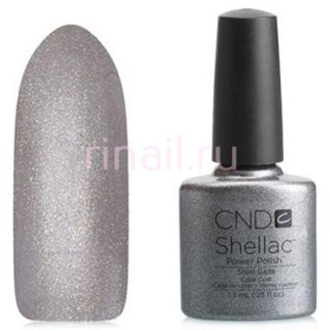 CND Шеллак 7,3 мл. Steel Gaze серебряный