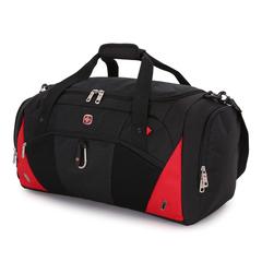Сумка спортивная Wenger, чёрная/красная, 56х25,5х28,5 см, 56 л