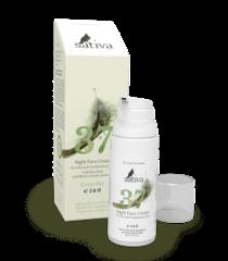 Sativa Крем для лица ночной №37 для жирного и комбинированного типа кожи, 50мл