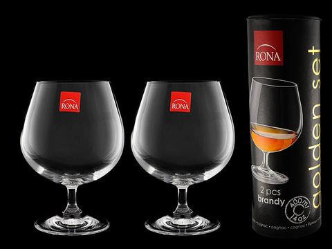 Набор бокалов для коньяка и бренди «Golden Set», в тубусе