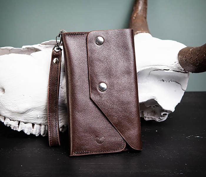 Фото - Boroda Design, Вместительный кошелек (клатч) из натуральной кожи, ручная работа мужской кошелек из натуральной кожи saaj sm06 72bl